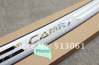 Free shipping 2012 Toyota Camry High quality stainless steel Rear bumper Protector Sill