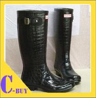 2013 Alligator Rain Boots Waterproof Women Wellies Boots Women Rinboots Woman Water Shoes Two Inside