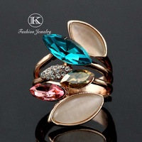 New 2014 Fashion brands Designer 18K Rose Gold Plated with Rhinestones Rings Sparkling  Have  romantic Austrian Crystal Ring
