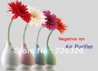 Wholesale Negative ion air cleaner flower vase  air purifier dust sterilization air cleaner home decoration USB air Purifier