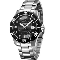 Nivada men's watch fully-automatic mechanical steel band male watch gm8021