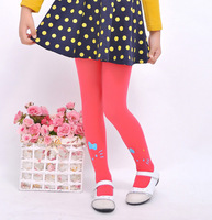 Free shipping 2014  New Autumn Children kitten girls dance velvet leggings socks