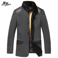 Mink hair gold liner nick coat male marten overcoat fur