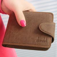 2013 genuine leather litchi scrub hasp short design male wallet cowhide wallet