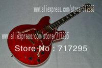 2014 ebony fretboard es355 semi jazz guitar hollow body left handed signature guitar musical instrument es 335 electric guitar