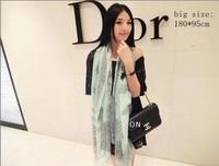 185*90cm 2014 New Brand Infinity Cotton Print  Porcelain Floss Scarf For Women Pashmina Temperament Totem Femle Shawl Clothing