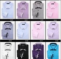 12 Colors 7Sizes 2013 Men's Business Cotton Long-Sleeved Dress Shirt Korean Version Of Influx Men's Striped Fashion Clothings