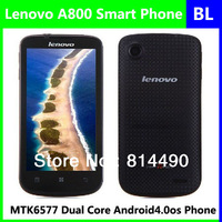 Original lenovo a800 MTK6577 1.2GHz dual core Android4.0 unlock mobile phone 4.5inch IPS screen multi languages free shipping