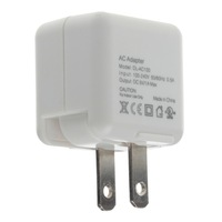 LDNIO DL-AC100 AC Power Charger Adapter for iPhone - White (US Plug / 100~240V)