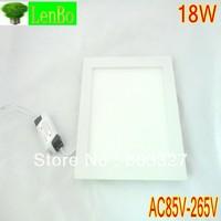 2PCS/LOT 250MM Bright Led Panel Light 18W Round Shape With Power Adapter AC85-265V Ulthra thin LP2