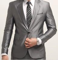 Free Shipping  Brand Fashion Bridegroon Men's Business Suits set Blazer Slim Custom Fit Tuxedo,XS-3XL Jackets+Pants
