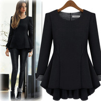 Plus size clothing mm one-piece dress fashion peter pan collar new arrival plus size full dress