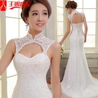 The bride wedding dress formal dress 2015 short trailing princess wedding dress sweet fish tail wedding dress