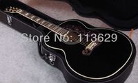 "Acoustic Guitar with Hardshell Case, 43"" guitar, J200 Acoustic Guitar BK"