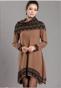 جديد أزياء المرأة الكوري 2014 البلوزات الطويلة اللباس الكشمير سترة فضفاضة غير النظامية حجم كبير المرأة سترة الشتاء