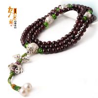 Arbitraging garnet beads 5mm Women 108 bracelet bracelets h l2