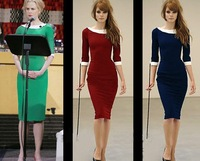 GODBEAD 2014 Noble Women Pinup Slimming Stretch Shift Wiggle Three Quarter Sleeve Pencil Knee-Length Dresses