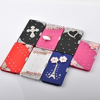 Bling Diamond Flip PU Leather Wallet Stand Case Cover For Samsung Galaxy Note 3 N9000