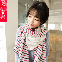 Scarf female cape dual rustic autumn and winter long scarf design chiffon silk scarf