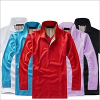 2014 New Classic *Polo Style* Men's 100% Cotton Fashion Shirt ,long sleeve polo shirt,plus size,good quality,men sport coat