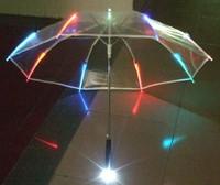 Top fasion sale umbrella rain parasol frozen transparent see-through led rain automatic umbrella with 7 changing colors