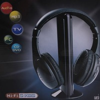 Free shipping 5 in 1 HIFI Wireless headphone Earphone Headset wireless Monitor FM radio for MP4 PC TV audio