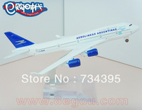 Boeing 747-400 Argentina (with wheels) 16cm metal alloys simulation planes model aircraft toys toys vehicles