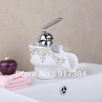 2013 Beautiful New Ceramic Bathroom Waterfall Chrome Brass Basin Vanity Faucet Sink Mixer Tap L-92683