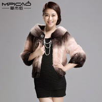 Ladies fight mink marten fur coat overcoat Women 2013 short design