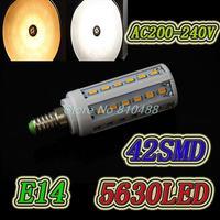 Dimming 15W e14  200-240V E27 led lamps Corn bulbs Lighting  42 LED 5730 Warm White Cool White led  Lamp