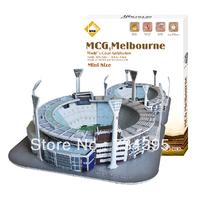 Melbourne MCG stadium mini stereo 3D building model puzzles puzzles 3D stereo famous children's educational toys