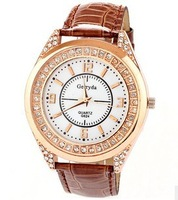 2014 New Gerryda fashion vintage brand watch diamond sewing snake crystal leather strap women dress watches 12.8
