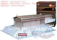 Greek Parthenon building 3D puzzle model 3D stereo hardcover adult children assembled educational toys