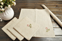 Linen embroidered table napkin western fabric towel table cloth napkin handkerchief mouth cloth table napkin cloth