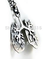 Anatomical Human Lung Lobe Anatomy Pendant Necklace