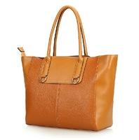 Fashion genuine leather handbag smiley women's high quality chromophous cowhide one shoulder handbag messenger bag 0407