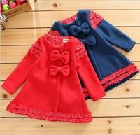 Fall Winter Sweet Small Baby Girls Dress Thicken Leyo Warm Children Princess Dress 0-3Year Kids Dresses Toddler Wear QZ373