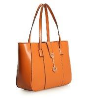 2013 cowhide handbag one shoulder fashion oil waxing women's leather genuine leather handbag women's lather-bag 0417