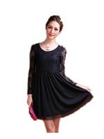 Free Shipping New Spring Autumn 214 Fat  Woman  high waist  Lace Dress 9929, dresses new fashion 2014 L XL XXL 3XL 4XL 5XL 6XL