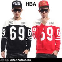 New 2014 Autumn Hood by air digital 69 print men's clothing sweatshirt brand designer male crewneck pullover outerwear fashion
