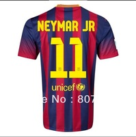 Authentic Quality 13/14!!! Neymar Jr #11 Home Soccer Shirt,Player Version Thailand Quality BacaFC Soccer Jersey+Free Shipping