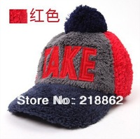 letter baseball cap winter plush winter baseball cap lovers hats for women free shipping