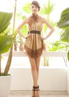 HOT! Korean fashion sexy silk~ Princess Punta swing skirt chiffon dress summer dress,free shipping