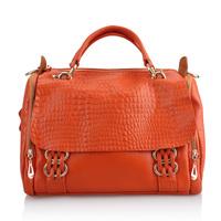 2012 women's fashion handbag shoulder bag genuine leather handbag women's handbag bag crocodile pattern messenger bag first