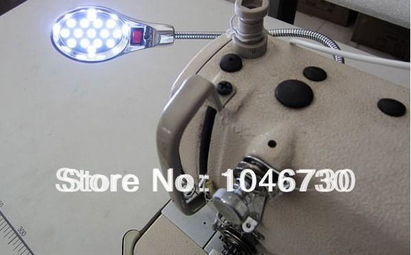 Sewing Machine gooseneck Lamp 15 LED light + Magnetic Mount + wire plug(China (Mainland))
