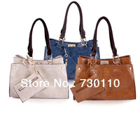 Casual Crocodile Pattern Shoulder Bag Genuine Leather Handbag Crossbody Package Fashion Hasp Tote Bag 4 Colors