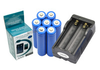 New 7pcs Rechargeable 5000mah 3.7v lithium 18650 Flashlight Batteriy and Charger Free Shipping