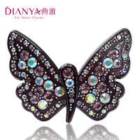 Elegant hair accessory butterfly side-knotted clip ol Hair Jewelry hairpin bangs clip rhinestone clip hair clip