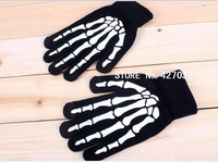Winter Gloves Knit Wool Skull Claw Skeleton Touch Screen Gloves for iPhone 5 4 4S iPad, 400pcs/lot (200 pairs)