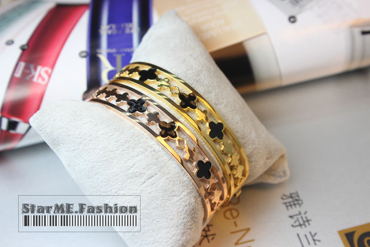 New 2013 Brand Jewelry Top Quality Cut Flowers Bangles&Bracelets For Women,Girls,Love w/ Fashion Gifts Box(China (Mainland))